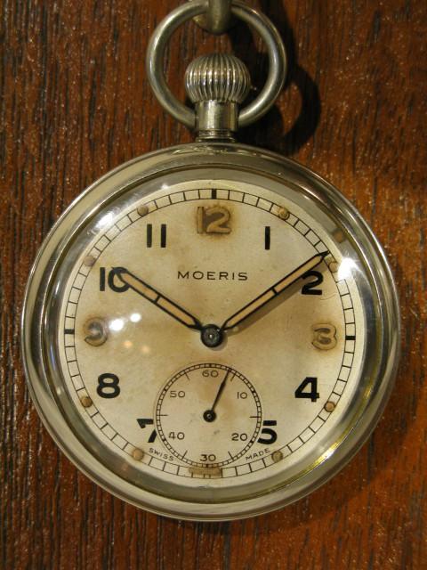 懐中時計 英国軍用 MOERIS